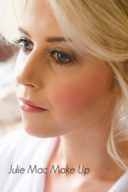 Beautiful close up of a vintage looking bridal make up.