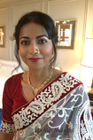Indian wedding make up on family guest.